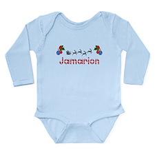 Jamarion, Christmas Long Sleeve Infant Bodysuit