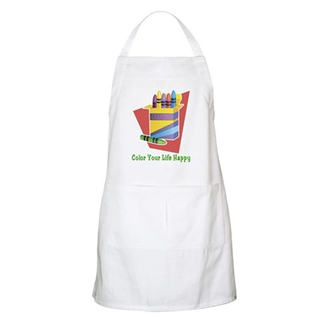 A Happy Life BBQ Apron