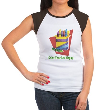 A Happy Life Women's Cap Sleeve T-Shirt