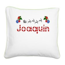 Joaquin, Christmas Square Canvas Pillow