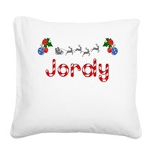 Jordy, Christmas Square Canvas Pillow