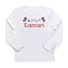 Kamari, Christmas Long Sleeve Infant T-Shirt