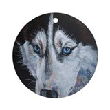 Siberian Eyes Ornament (Round)