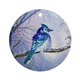 Blue Jay Ornament (Round)