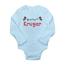 Kruger, Christmas Long Sleeve Infant Bodysuit