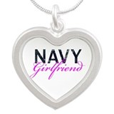 Navy Girlfriend Silver Heart Necklace