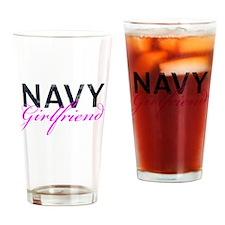 Navy Girlfriend Drinking Glass