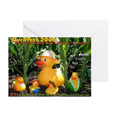 duckfest2006_announcement Greeting Cards