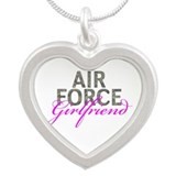 Air Force Girlfriend Silver Heart Necklace