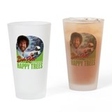 Bob ross glass Pint Glasses