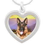 Shepherd Meadow Silver Heart Necklace