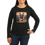 Shepherd Meadow Women's Long Sleeve Dark T-Shirt
