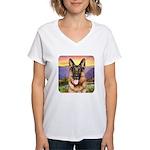 Shepherd Meadow Women's V-Neck T-Shirt