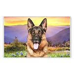 Shepherd Meadow Sticker (Rectangle)