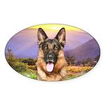Shepherd Meadow Sticker (Oval)
