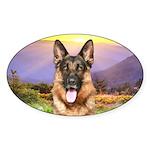 Shepherd Meadow Sticker (Oval 10 pk)