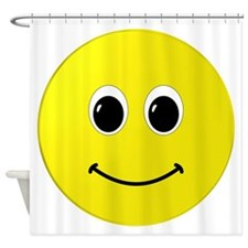 Cute Happy Face Shower Curtain
