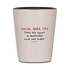 Social Work Tips-Students Shot Glass