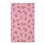 Bicycles Pink 3'x5' Area Rug