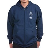 Keep Calm and Swim On Zipped Hoodie