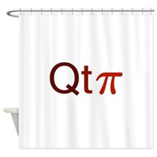 'Cutie Pi' Shower Curtain