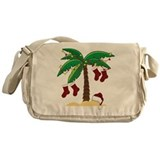 Tropical Christmas Messenger Bag