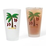 Tropical Christmas Drinking Glass