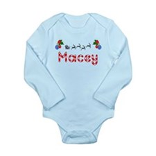 Macey, Christmas Long Sleeve Infant Bodysuit
