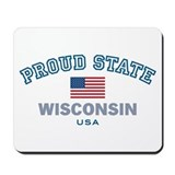 Wisconsin-Proud State-Flag: Mousepad