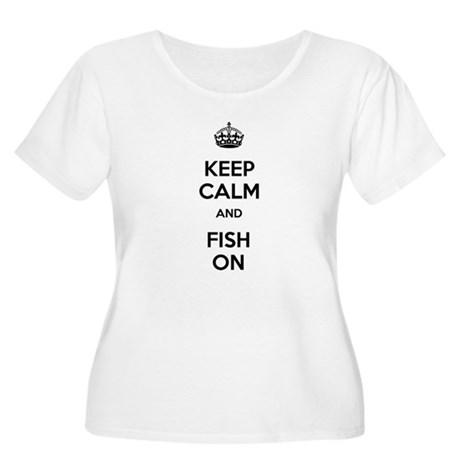 Keep Calm and Fish On Women's Plus Size Scoop Neck