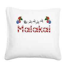 Malakai, Christmas Square Canvas Pillow