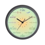 Math Clock (Green Gradient) Wall Clock