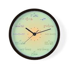 Math Clock (Green Gradient) Wall Clock