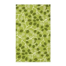 Branch Leaves Green 3'x5' Area Rug