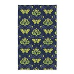 Butterfly Asian Blue 3'x5' Area Rug