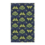 Butterfly Asian Navy 3'x5' Area Rug