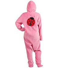 Lady Bug Footed Pajamas