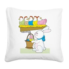 rainbow easter chickens.png Square Canvas Pillow