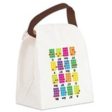 Uke Chord Cheat Tee Colorful Canvas Lunch Bag