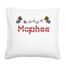 Mcphee, Christmas Square Canvas Pillow