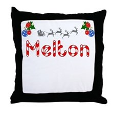 Melton, Christmas Throw Pillow