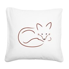 Vulpes Vulpes Square Canvas Pillow