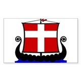 Danish Flag Longship Bumper Stickers