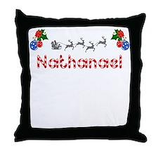 Nathanael, Christmas Throw Pillow