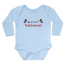 Nathanael, Christmas Long Sleeve Infant Bodysuit