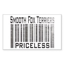 Smooth Fox Terriers Rectangle Decal