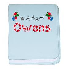 Owens, Christmas baby blanket