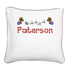 Paterson, Christmas Square Canvas Pillow