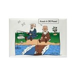 Fishing With Moses Rectangle Magnet