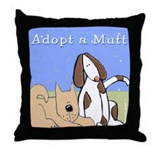 Adopt a Mutt! Throw Pillow